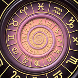Zodiac spiral Stock Photography