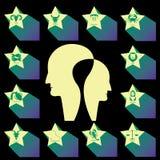 ZODIAC STAR AND HEAD MAN Royalty Free Stock Photos