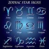 Zodiac star signs. Vector illustration of zodiac star signs Royalty Free Stock Photos
