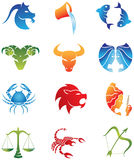 Zodiac Star Signs. Logo-like Zodiac Star Signs isolated on a white background Royalty Free Stock Photos