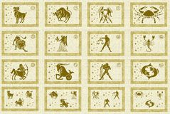 Zodiac star signs Royalty Free Stock Photo