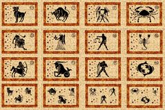 Zodiac star signs Royalty Free Stock Photos