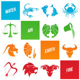 Zodiac Star Signs. Vector Illustration of Zodiac Star Signs Stock Images