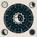 Zodiac with the sun Royalty Free Stock Image