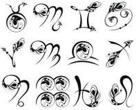 Zodiac Symbol icons vector illustration Royalty Free Stock Photos