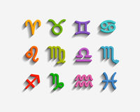 Zodiac Symbol icons Stock Photography