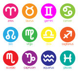 12 zodiac symbol. Twelve zodiac symbol and icon vector royalty free illustration