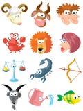 Zodiac symbols. Set of isolated cute zodiac symbols Stock Illustration