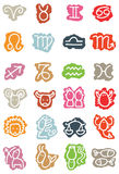 Zodiac symbols. Vector hand-drawn zodiac icons Royalty Free Stock Image