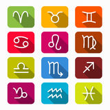 Zodiac Symbols on Rounded Squares Royalty Free Stock Photography