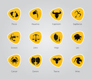 Zodiac Symbols, signs, shape, icon Royalty Free Stock Photography