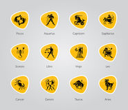 Zodiac Symbols, signs, shape, icon Stock Image
