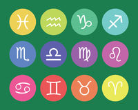 Zodiac Symbols, signs, shape, icon Royalty Free Stock Images