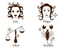 Zodiac tattoo stencil vector illustration Royalty Free Stock Photo