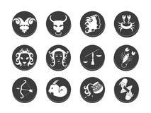Zodiac tattoo stencil vector illustration Royalty Free Stock Photos