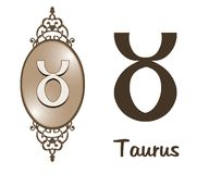 Zodiac - Taurus. Featuring one of the zodiac sign royalty free illustration