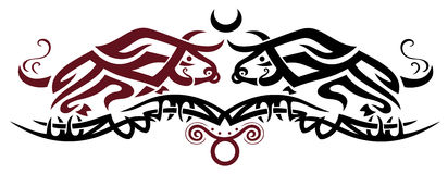 Zodiac Taurus, bull Royalty Free Stock Photography