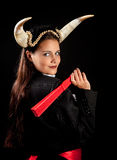 Zodiac taurus girl. Taurus or Bull woman, this photo is part of a series of twelve Zodiac signs of astrology royalty free stock images