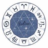 zodiac tekens Astrologisch symbool horoscope astrologie mystical Vector stock illustratie