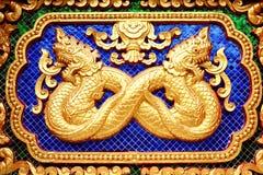 Zodiac Thai Statue Wall Stock Photography