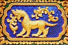 Zodiac Thai statue wall Royalty Free Stock Photos