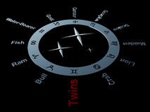 Zodiac `Twins` 3D rendering Stock Images