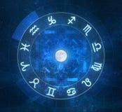 Zodiac undertecknar horoskopet Arkivbild