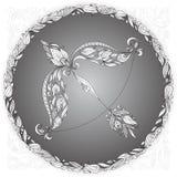 Zodiac undertecknar sagittariusen Arkivbild