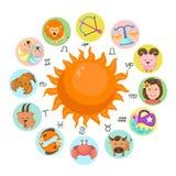 Zodiac vector Stock Photos