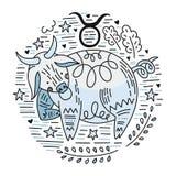 Zodiac Signes Taurus royalty free illustration