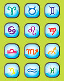 Zodiac Vector Signs. Colorful vector icons with zodiac signs Stock Photo