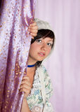 Zodiac Virgo girl. Virgo or Virgin, this photo is part of a series of twelve Zodiac signs of astrology stock image