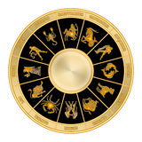 Zodiac wheel (02) Stock Photography