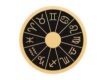 Zodiac wheel Stock Images