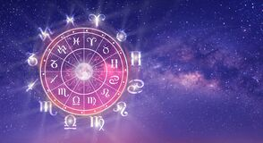 Free Zodiac Wheel. Astrology Concept Stock Image - 209884981