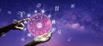 Free Zodiac Wheel. Astrology Concept Royalty Free Stock Photography - 210088167