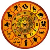 Zodiac Wheel Illustration Stock Image