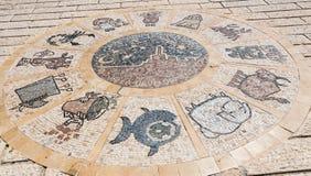 Zodiac wheel in Jaffa. Israel royalty free stock photo