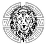 Zodiac Wheel with sign of Leo. Stock Photography