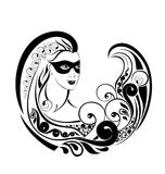Zodiac Wheel with sign of Virgo. Tattoo design. Stock Photography