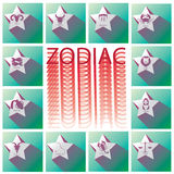 Zodiac white star on green Square Royalty Free Stock Photography