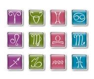 Zodiacal иконы иллюстрация вектора