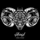 Zodiacal Aries Ink Zenart Stock Image