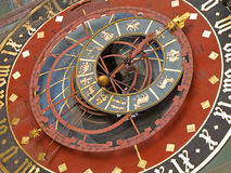 Zodiacal clock in Bern Stock Photography