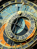 Zodiacal clock in Prague Stock Photos