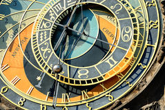 Zodiacal clock in Prague Stock Photo
