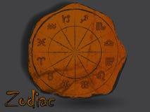 Zodiacal constellatie in de vorm van grotschildering stock illustratie