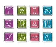 Zodiacal icons. Vector set of colorful zodiacal icons vector illustration