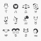 Zodiacal icons Stock Images