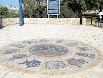 Zodiacal Jaffa unterzeichnet herein Abrasha-Park 2010 Lizenzfreies Stockfoto